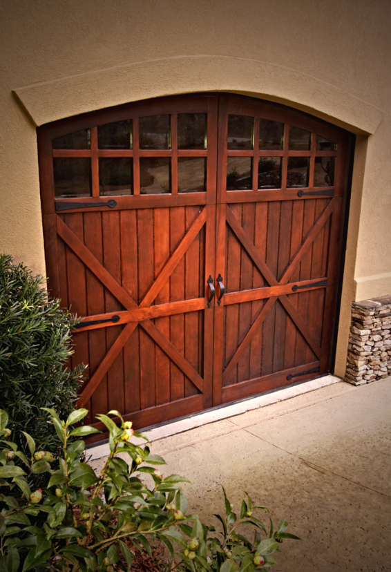 Wooden Carriage Door With Arch Amp Glass Carriage Doors