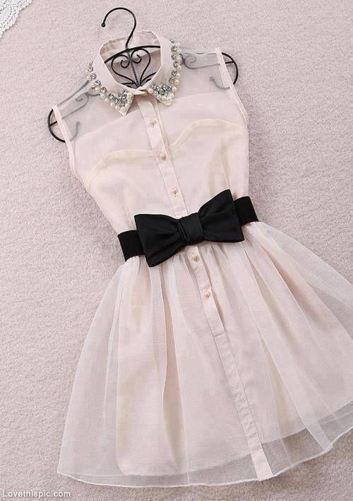 Cute Vintage Style Dress fashion dress vintage black white bow ...