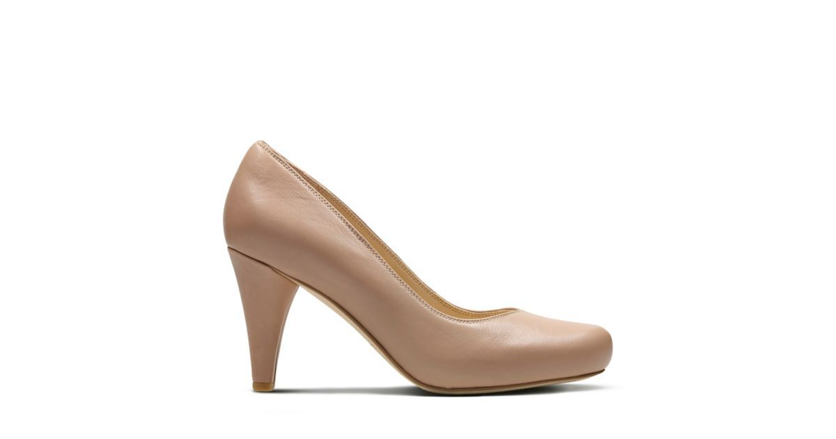 23214c02d415 Dalia Rose Nude Leather - Women s Heels - Clarks® Shoes Official Site