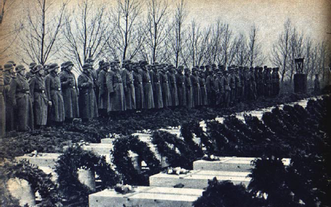 The Germans burry their dead soldiers and Gestapo men after operation Carthage, the Allied ...