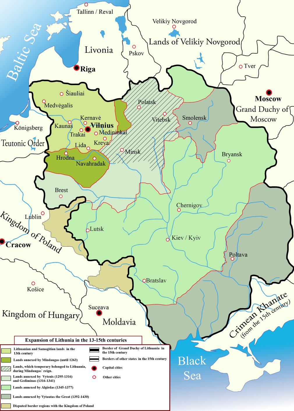 Expansion of lithuania in the 13th to 15th centuries history expansion of lithuania in the 13th to 15th centuries gumiabroncs Gallery