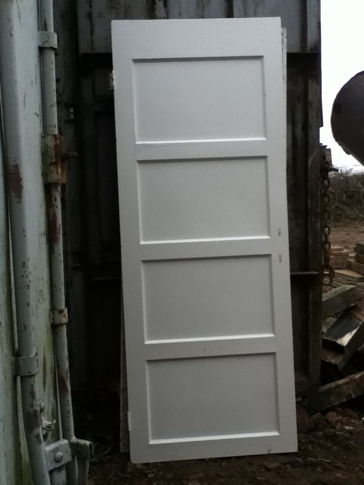 Original 1950s 1940s Reclaimed Four Panel Doors Vintage