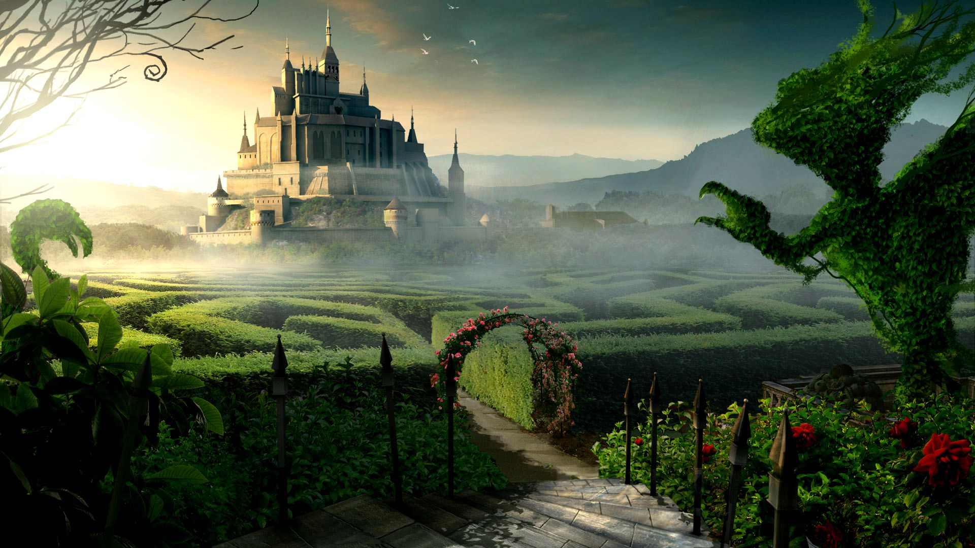 Fantasy World Wallpapers Hd Hd Wallpapers 4 Us Fantasy Castle