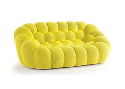 Bubble Large 3 Seat Sofa In Techno 3d Fabric Designed By Sacha