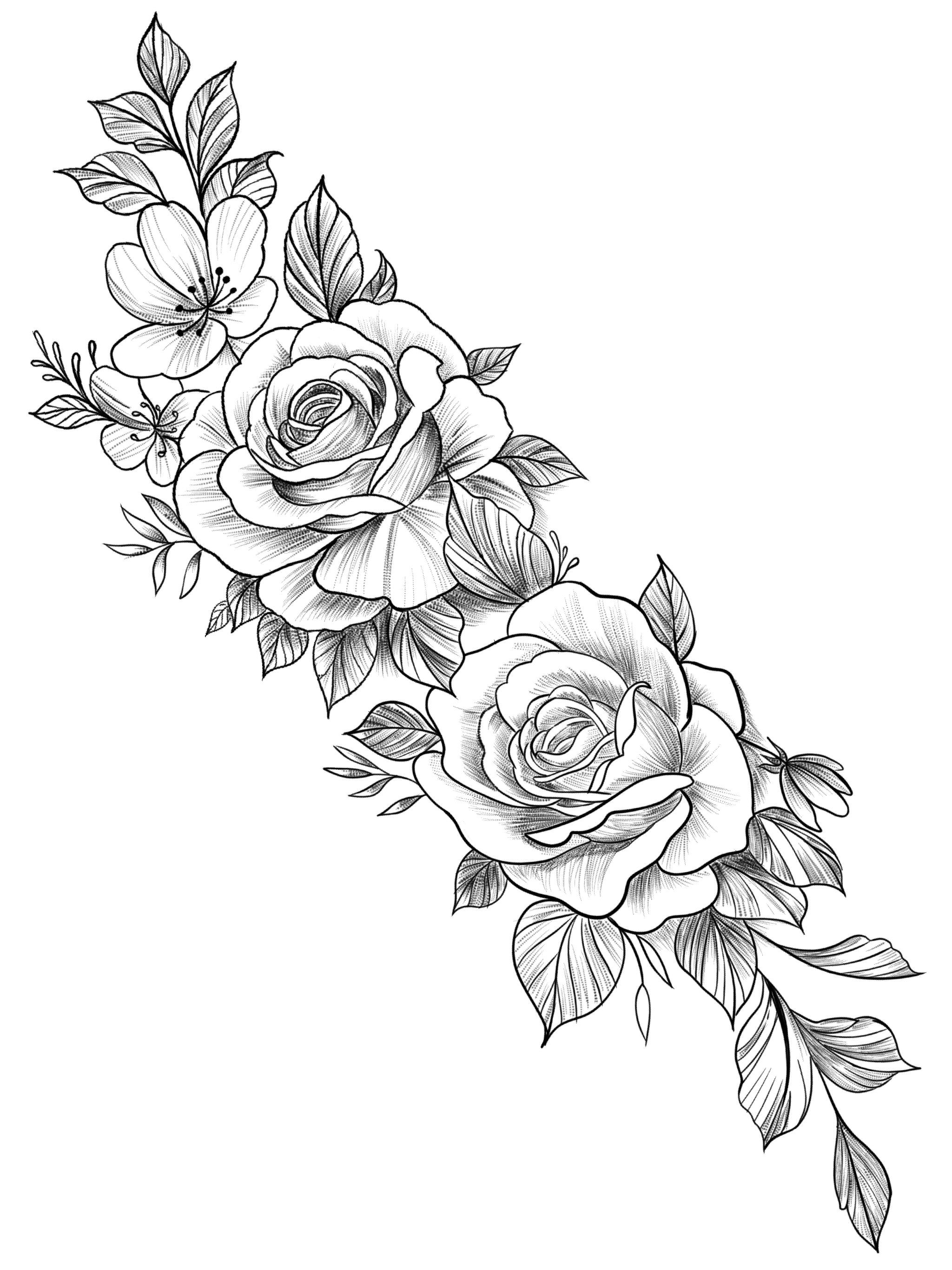 рисунки роз на руке картинки цирковой силач