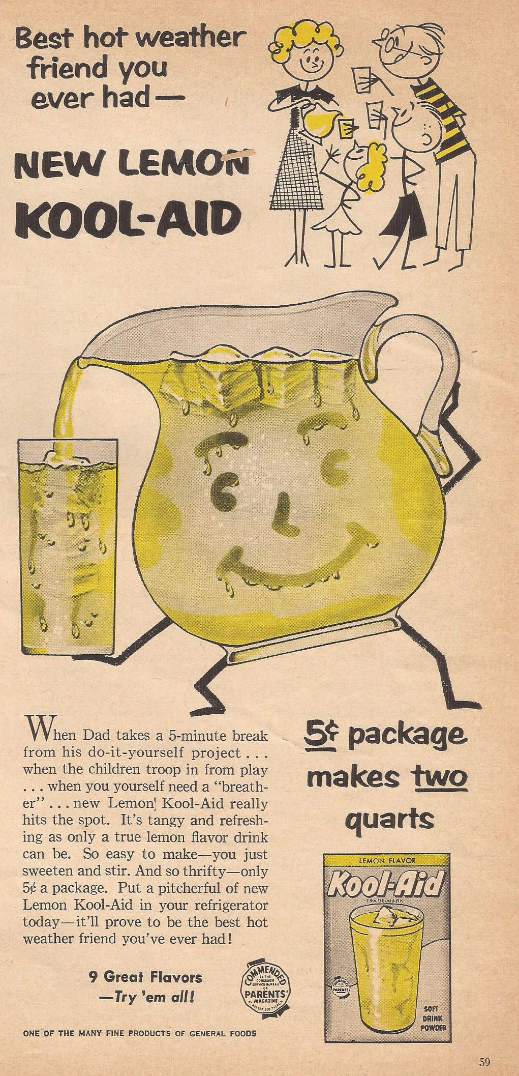 Kool Aid Ad From Household Magazine July 1956 Kool Aid Household Magazine Kool