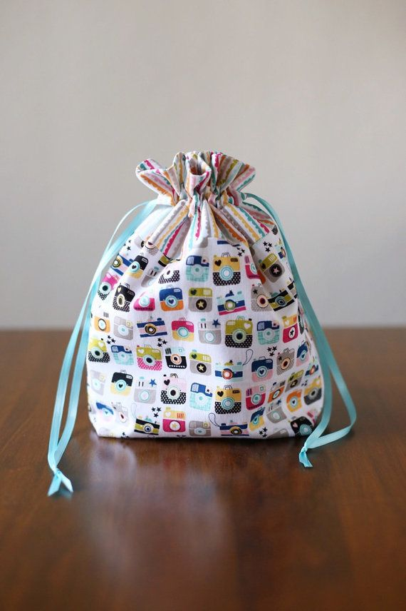 Drawstring Bag  by AmandaJeanCreations on Etsy
