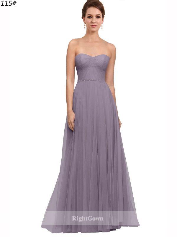 Brides Perth | Shop A-Line Sweetheart 2018 Long Tulle Purple ...