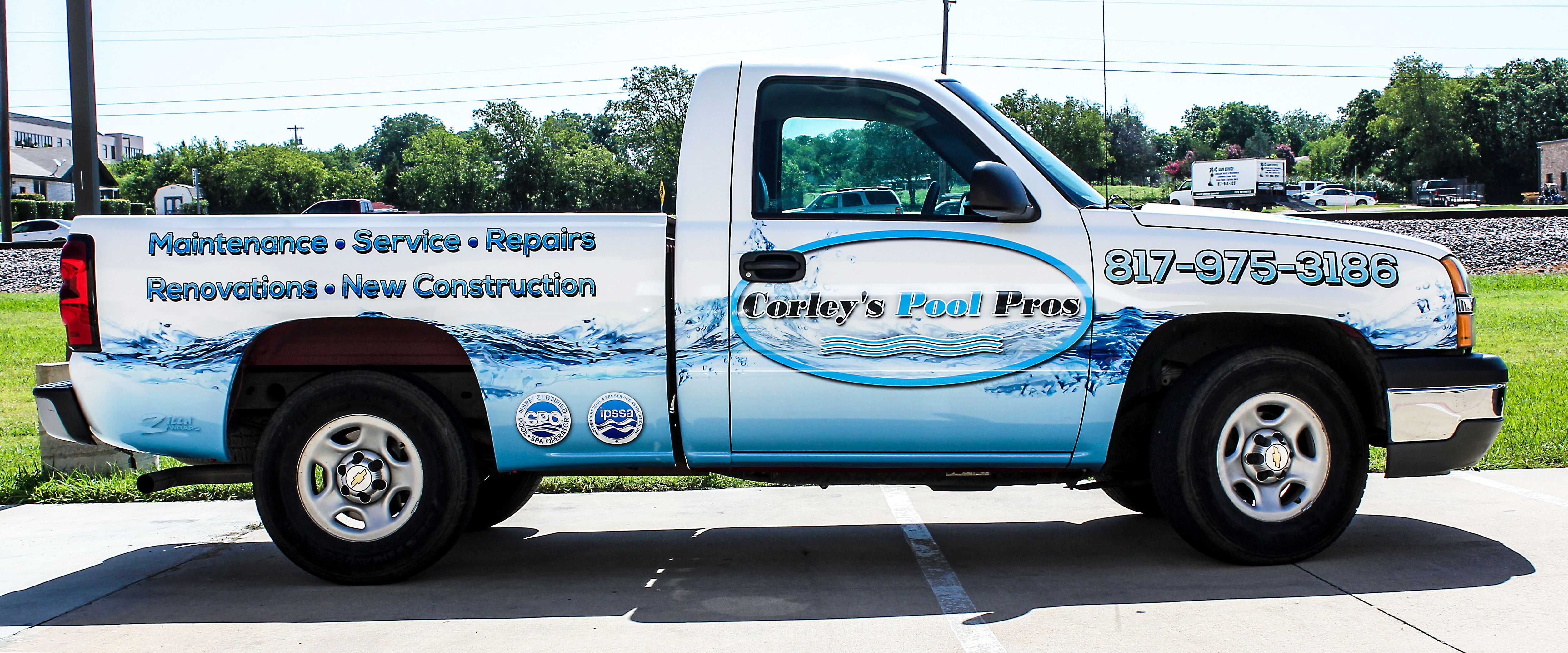 Pool Service Truck Wrap Commercial Vehicle Swimming Pools Company Trucks