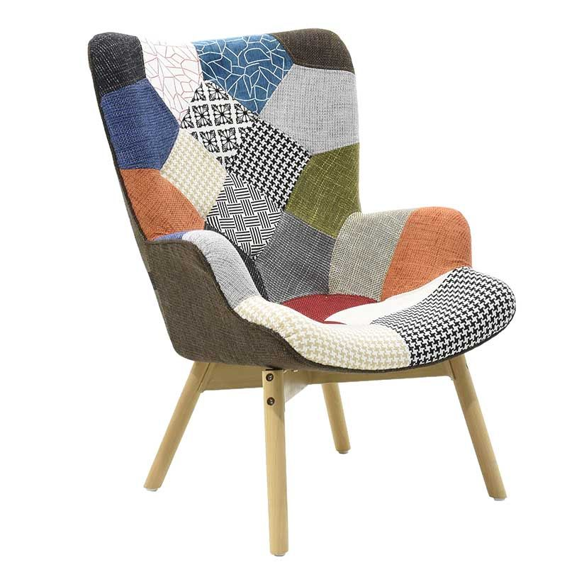 Poly8rona Kido Yfasmatinh Xrwma Patchwork Armchair Design Armchair Arm Chairs Living Room