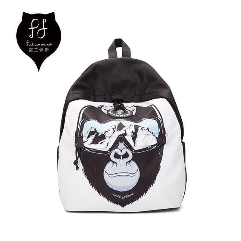 cf8e214720 FULANPERS Animal Printing Backpack Female Canvas Orangutan Rucksack Large  Capacity Women Back Pack School Bags For Teenage Girls  Affiliate