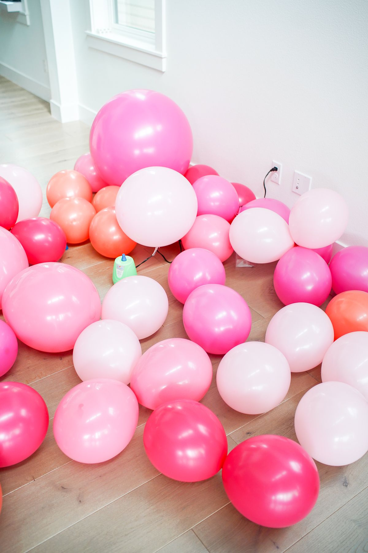 A super easy balloon garland diy two inexpensive must