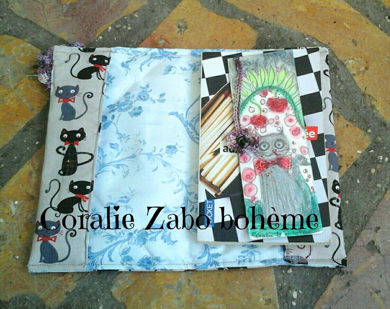 Protege Livre De Poche Tissu Toile Coton Tissu Chats Toile Coton