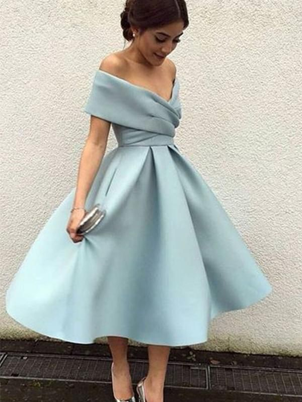 0ec0f2772e26 Off Shoulder Dusty Blue Sho... Dusty Blue Dress, Dusty Blue Bridesmaid  Dresses