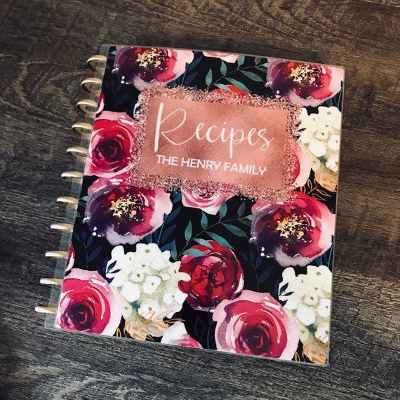 Recipe Binder Kit With Covers And Dividers In The Flowers