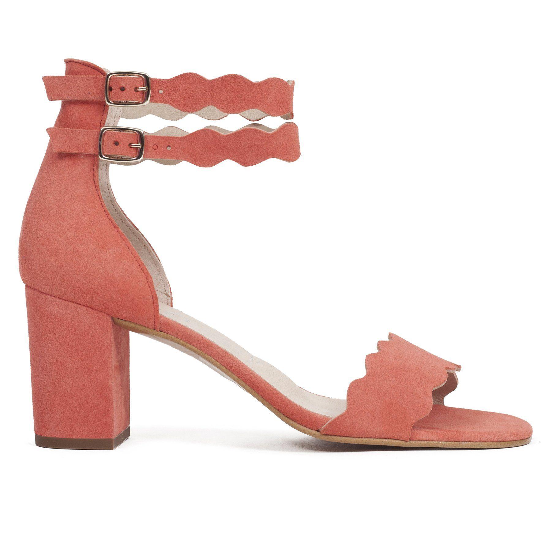 a61cac2a655 Sandalia de tacón para mujer CORAL con hebilla - miMaO Online – miMaO  ShopOnline
