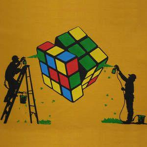 Rubiks Graffiti Graffiti Art Best Graffiti Street Art Painting Banksy Drawings
