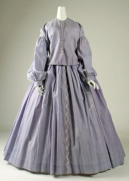 Dress Date: 1860s Culture: American Medium: cotton Accession Number: 1981.49.4a, b