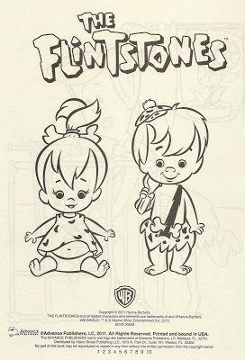 Patrick Owsley Cartoon Art And More Flintstones Coloring Book Title Page Coloring Books Cartoon Art Vintage Cartoon