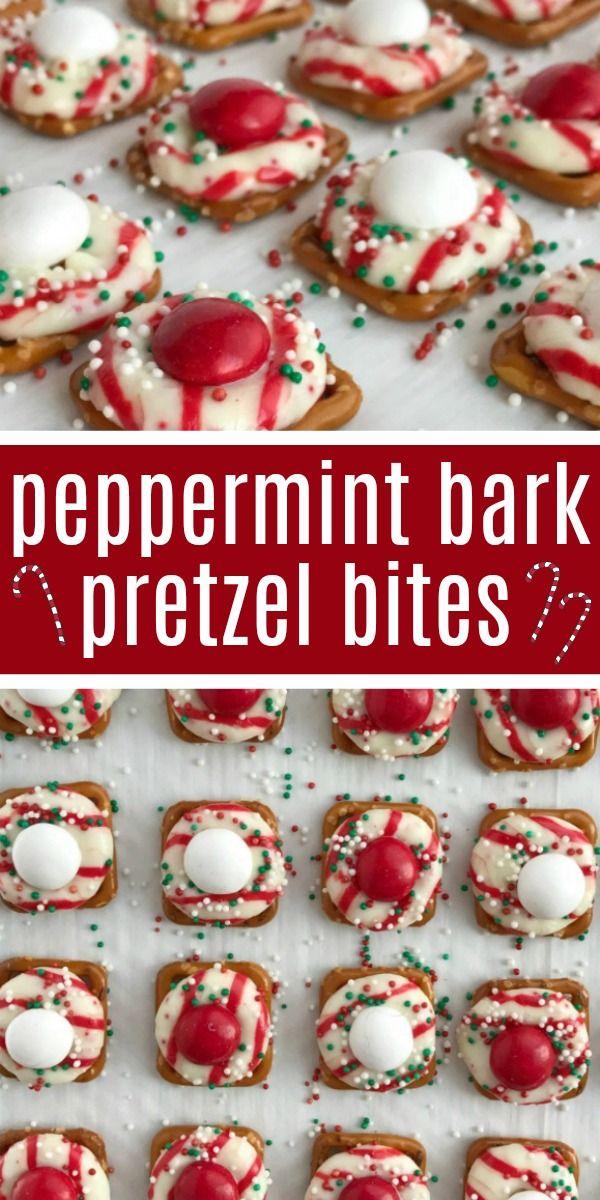 Peppermint Bark Pretzel Bites