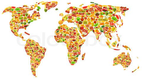 Where fruit grows in world map world map made of many fruits and where fruit grows in world map world map made of many fruits and vegetables stock gumiabroncs Gallery