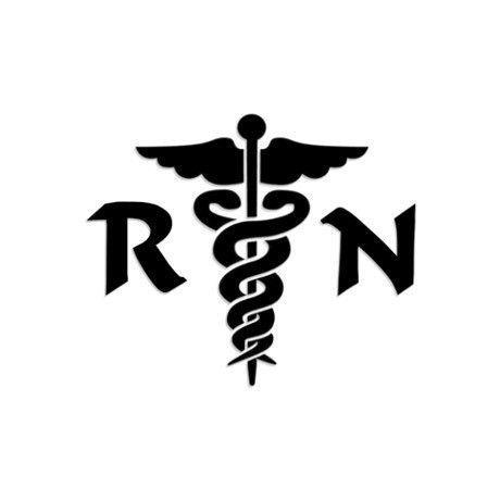 Nurse Bumper Sticker WickedGoodz Blue Caduceus RN Nurse Vinyl Window Decal Transfer Registered RN Nurse Gift