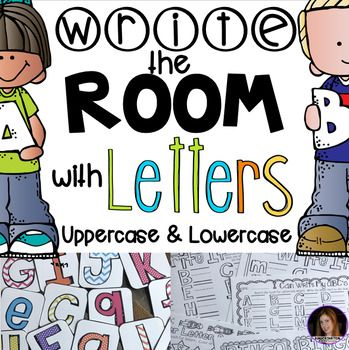 write the room with letters uppercase and lowercase by kindergarten rocks bubble letters