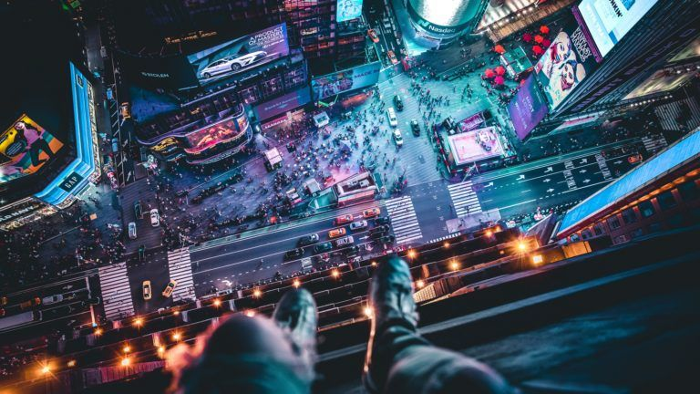 Download 4k Wallpapers Of Night City Top View Legs Roof Overview Megalopolis New York Usa 4k Legs Nig Night City Hd Nature Wallpapers Live Backgrounds 4k wallpaper of night city