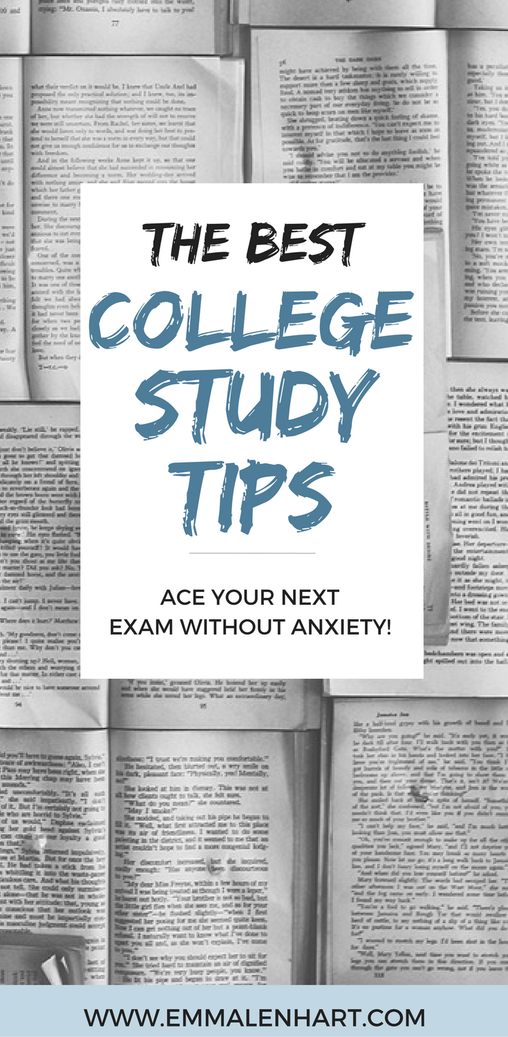 Find 20 study tips for college students to use in order to succeed on their  next exam. Great tips for college students who want to do well in their  classes!