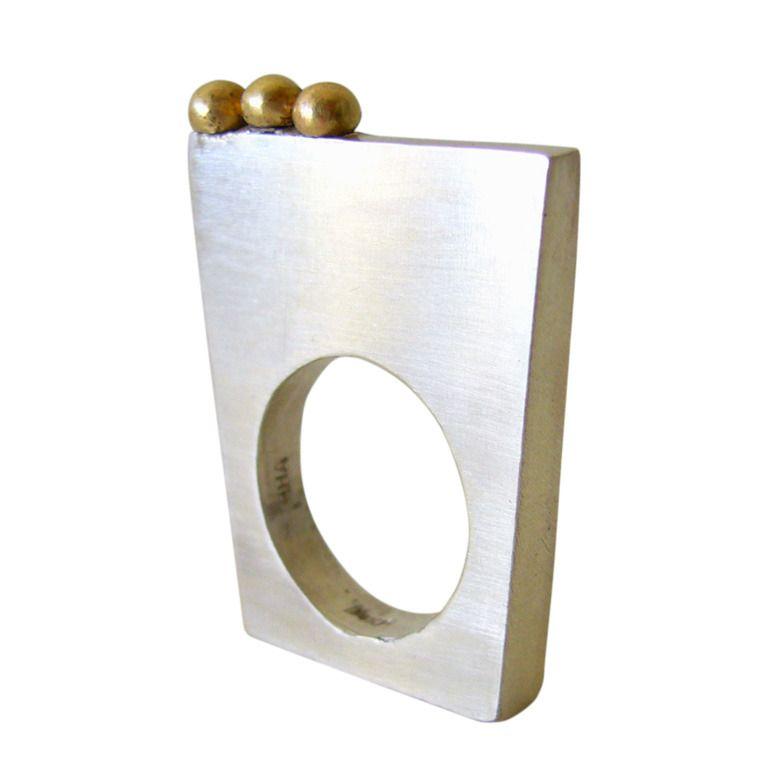1stdibs.com | HEIDI ABRAHAMSON-USA Sterling and Gold Ring
