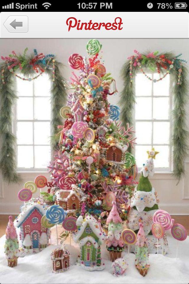 Pretty Candy Land theme Christmas Christmas Pinterest - decoraciones navideas para el hogar