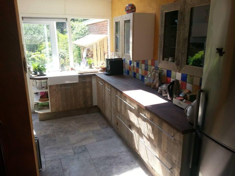 Houtcuisine sloophout keuken keuken