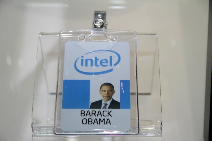 so cool - Barack Obama visited Intel in 2011 (his badge is now at the Intel Museum)
