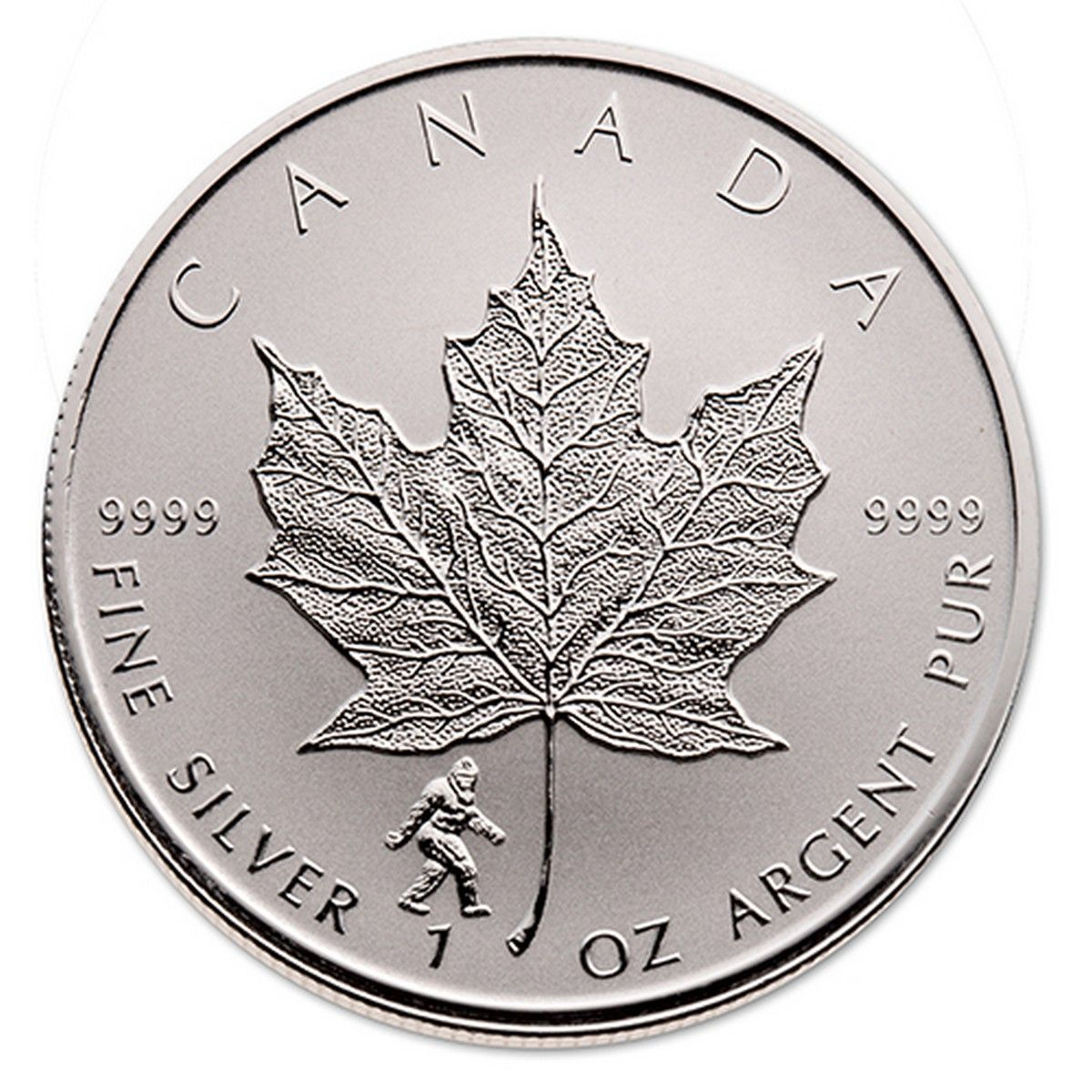 2016 Bigfoot 1 Oz Privy Silver Maple Leaf Canadian Pmx Silver Maple Leaf Canadian Maple Leaf Silver Bullion Coins