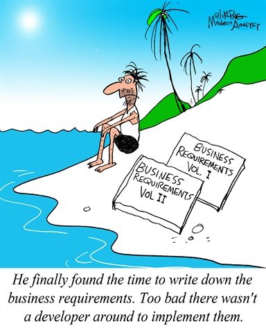 Humor  Cartoon Finally  The Requirements Document Is Complete