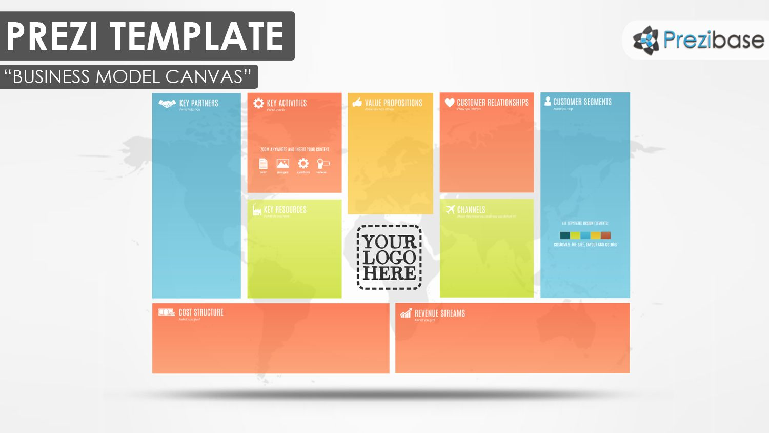 Business model canvas colorful pitch world map prezi template business model canvas colorful pitch world map prezi template cheaphphosting Images