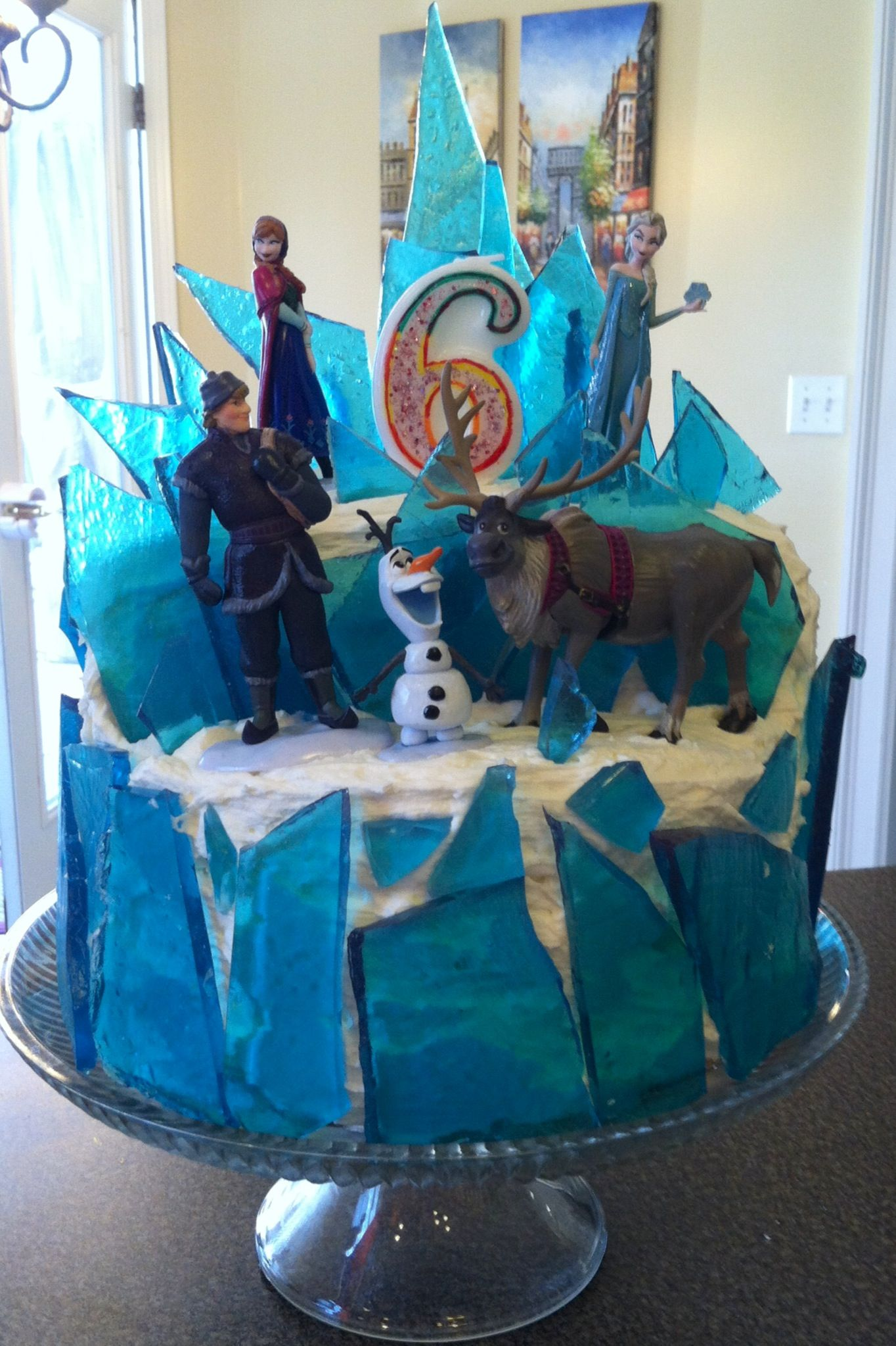 Birthday Cake From Disney S Frozen 3 Layers Total With