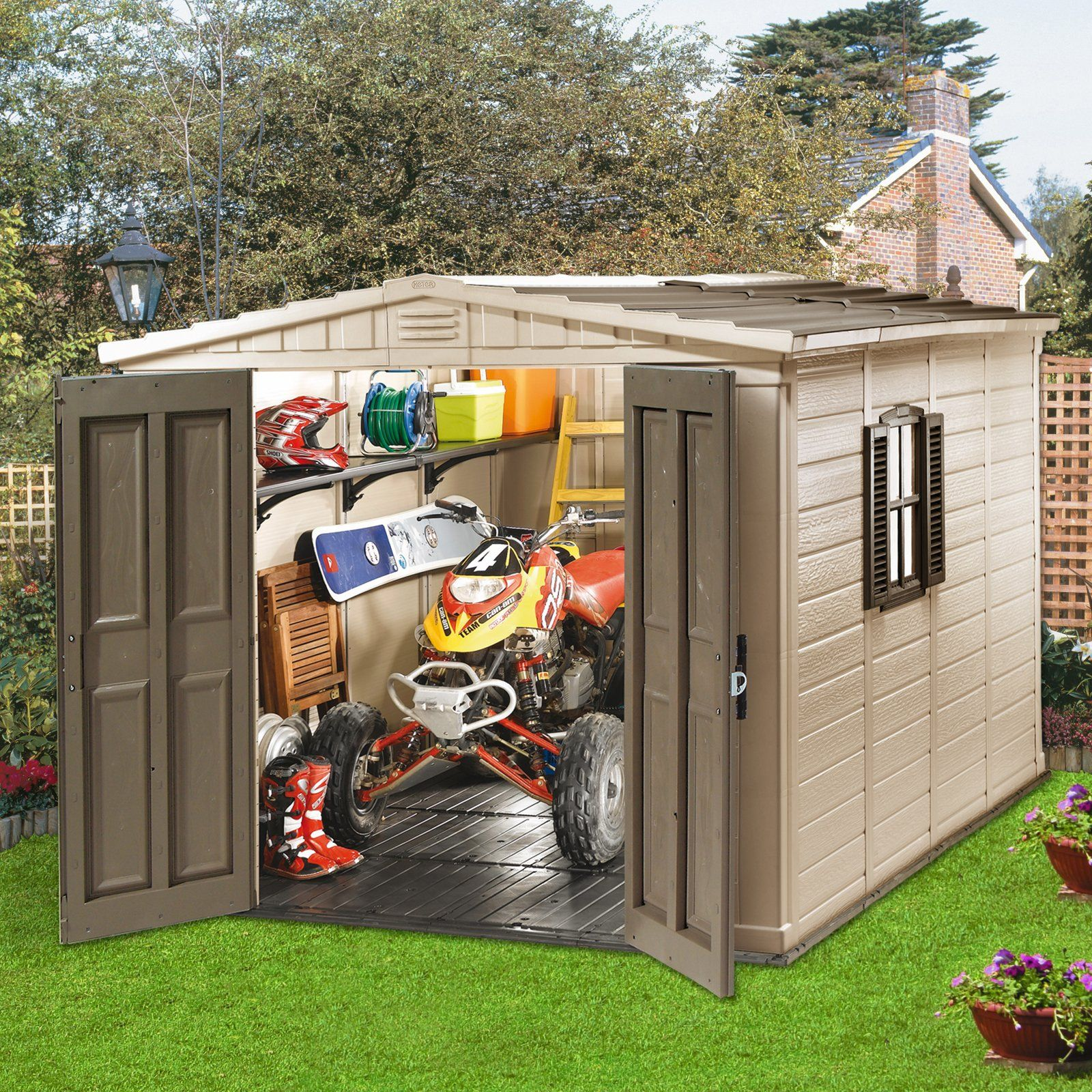 Have To Have It Keter 17182788 Fortis 8 X 11 Ft Storage Shed 1264 99 Cute Hayneedlehome Cheap Storage Sheds Shed Lifetime Storage Sheds