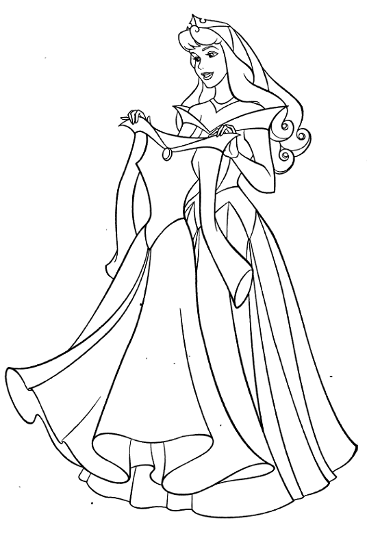 Aurora And New Dress Coloring Pages Disney Coloring Pages Sleeping Beauty Coloring Pages Disney Coloring Sheets
