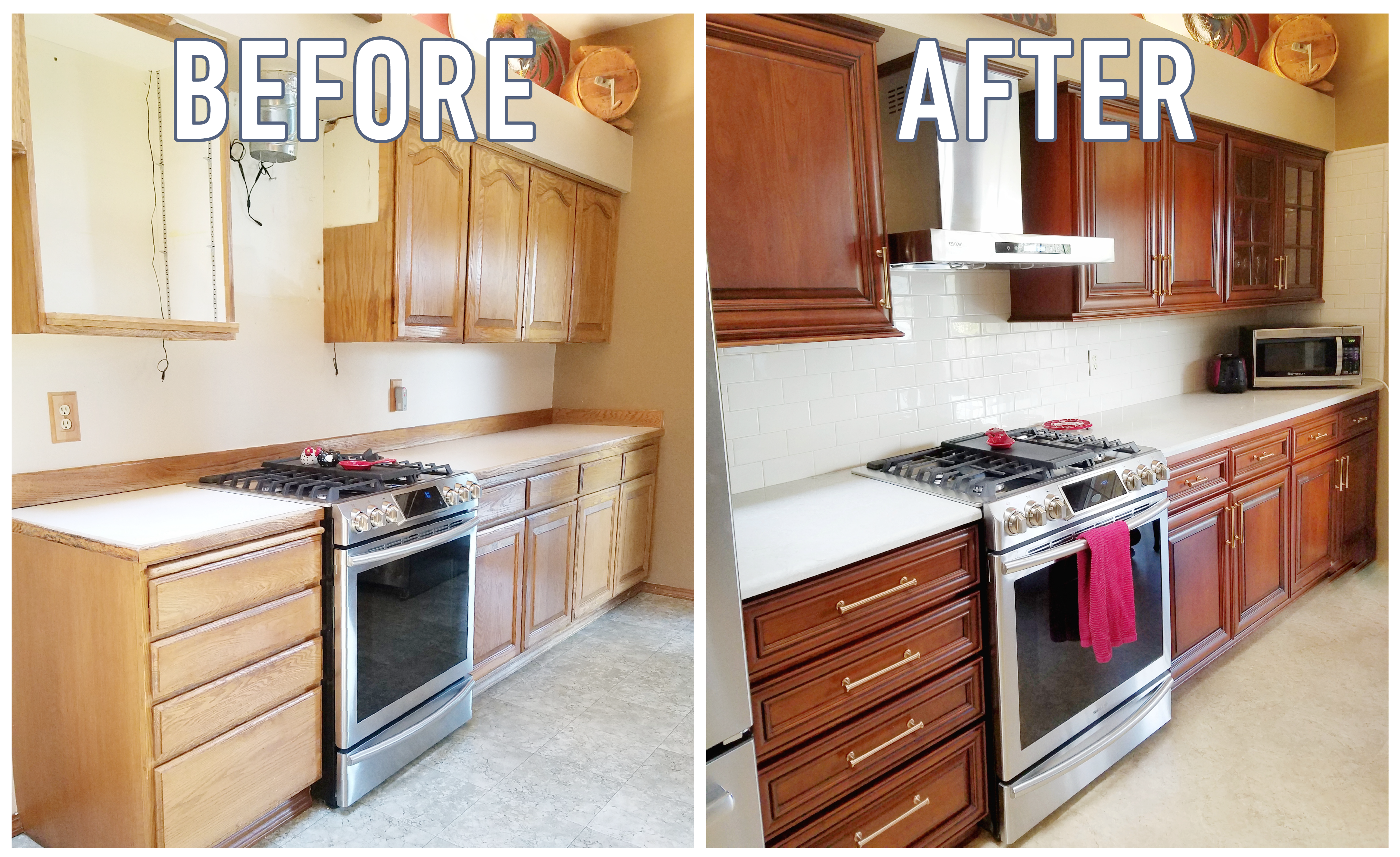 Refaced Honey Oak Cabinets With Images