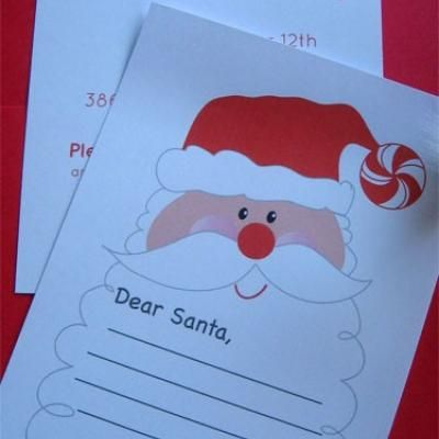 Letter To Santa Printable Santa Claus Christmas Printable