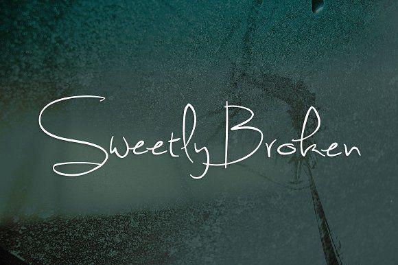 sweetly broken by brittney murphy design on creativemarket script