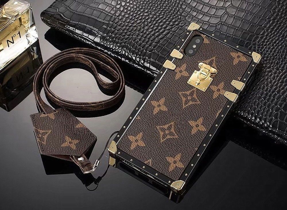newest 19e8c 25e02 Luxury Classic LV Louis Vutton Monogram Pattern Eye Trunk Case Cover ...