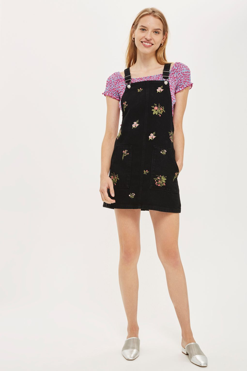 ef98c081fa38 PETITE Floral Embroidered Pinafore Dress | Clothing | Pinafore dress ...