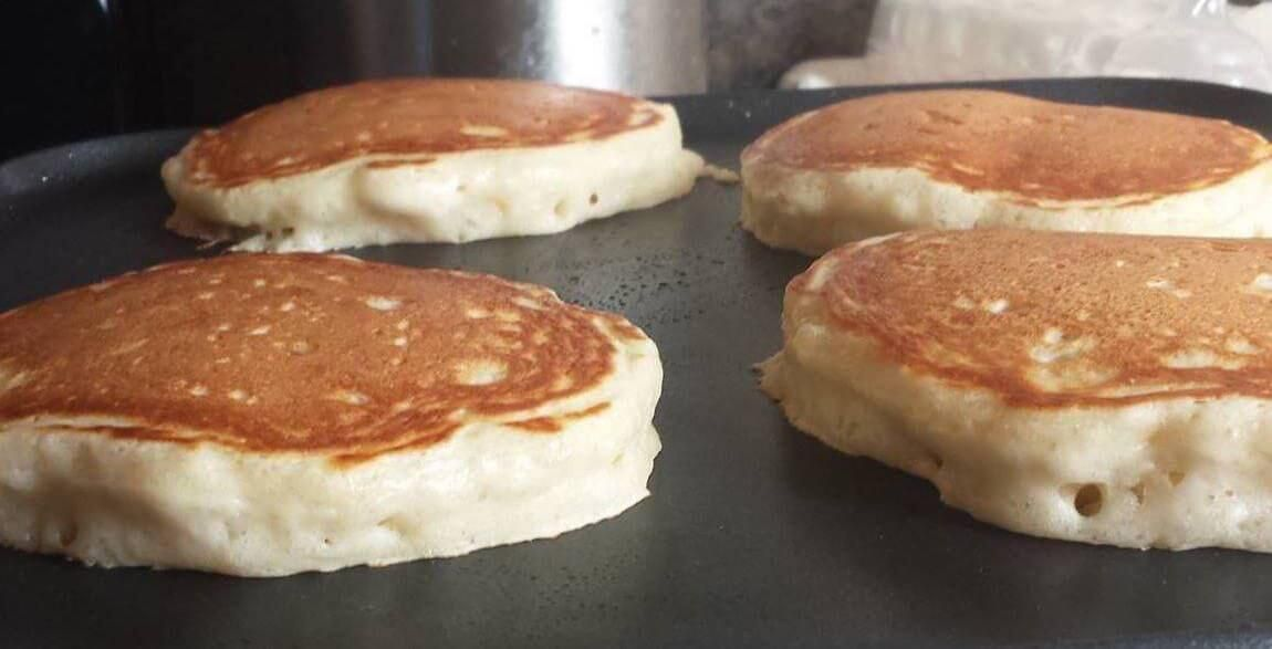 These Pancakes Are Lovely You Could Even Eat Them Plain Instead Of Milk And White Vinegar I Use Best Homemade Pancakes Best Pancake Recipe Homemade Pancakes