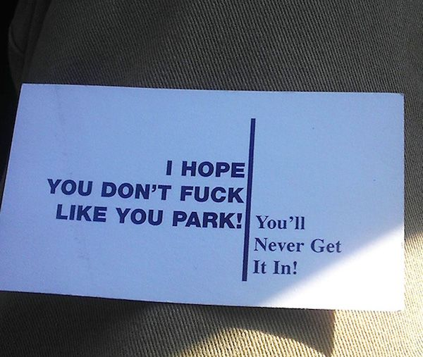 Image result for Hilarious Parking Notes