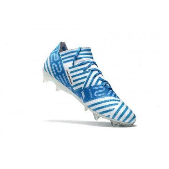 new product 43de7 99706 Adidas Nemeziz 17.1 FG - Bueno Adidas Nemeziz 17.1 FG Blanco Azul Botas De  Futbol  soccercleats  soccer  cleats  nemeziz