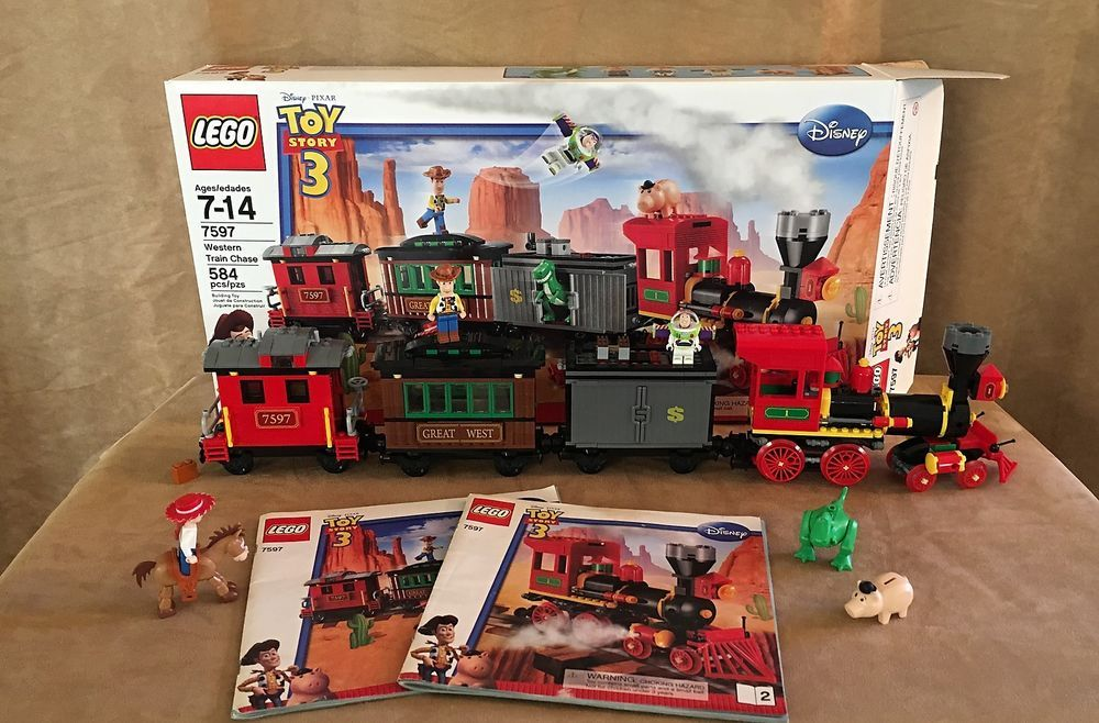 7597 Lego Toy Story 3 Western Train Chase Complete Box Disney Pixar