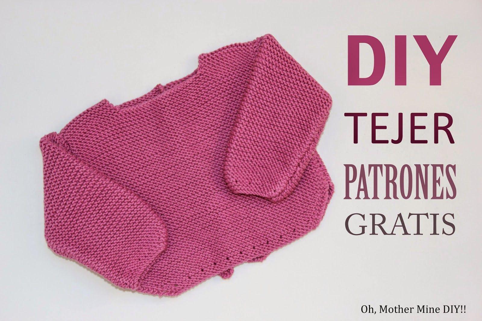 DIY Tejer un jersey de lana para bebé (patrones gratis) | Knit ...