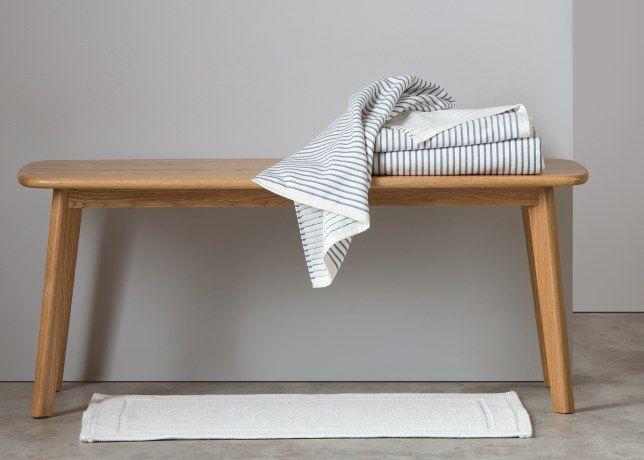 Santorini 2 x gestreept handdoeken, indigo | made.com